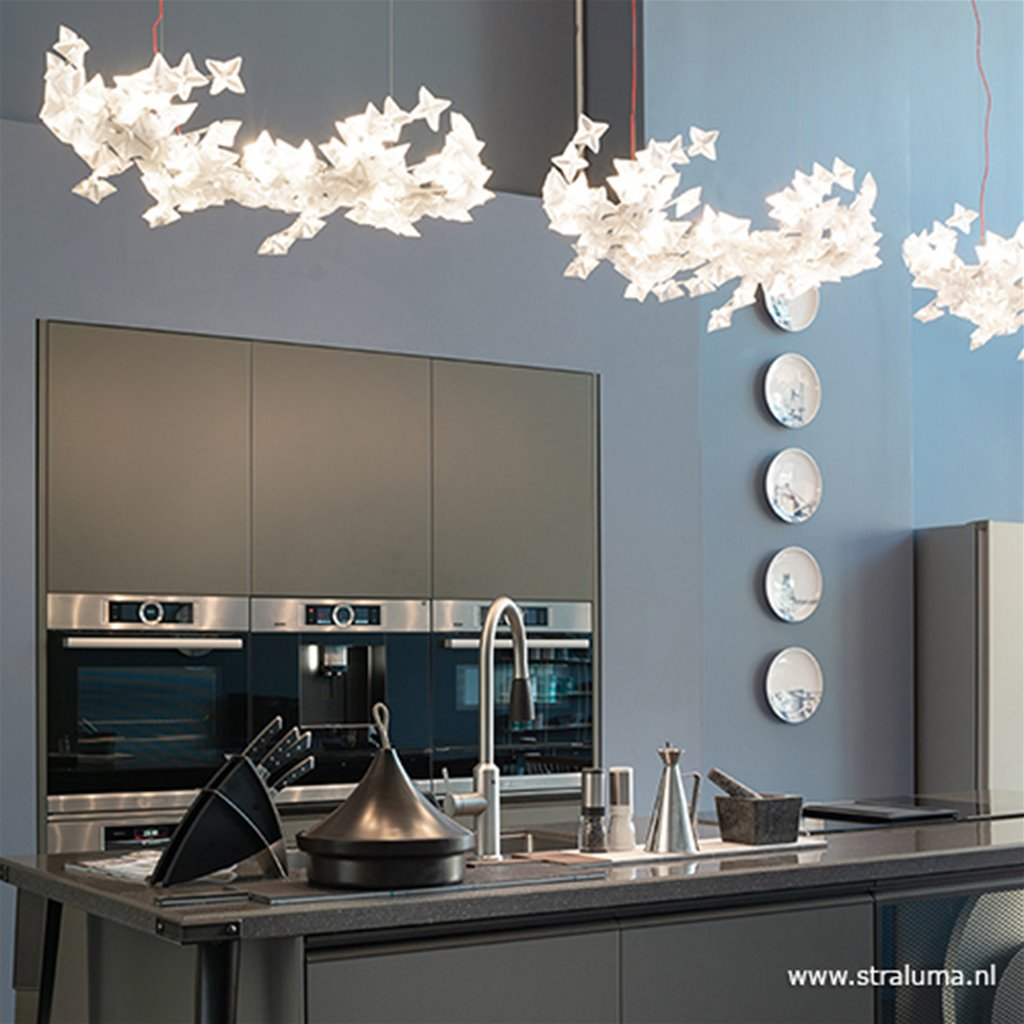 Grote hanglamp LED design flowers