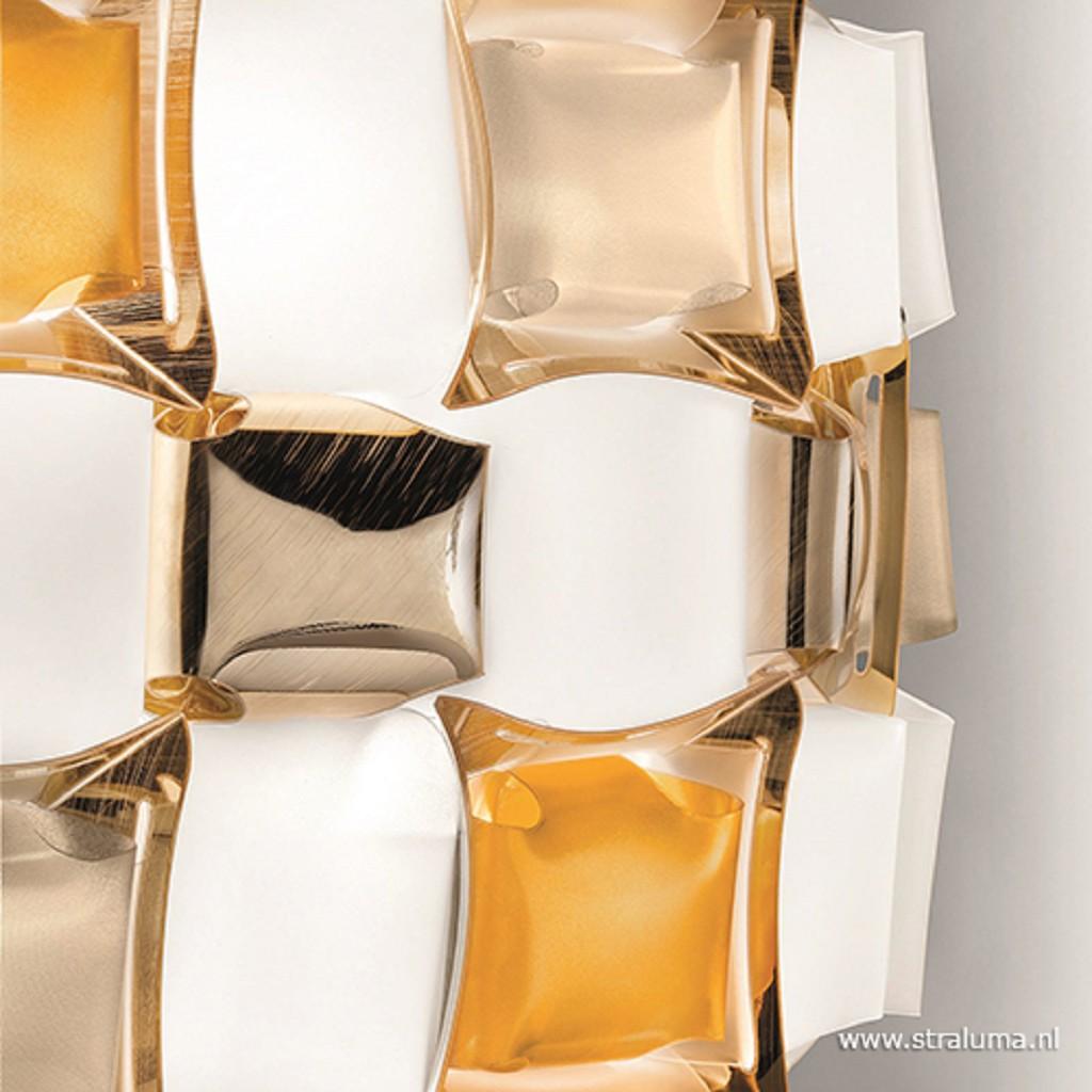 Design plafondlamp Mida wit met goud