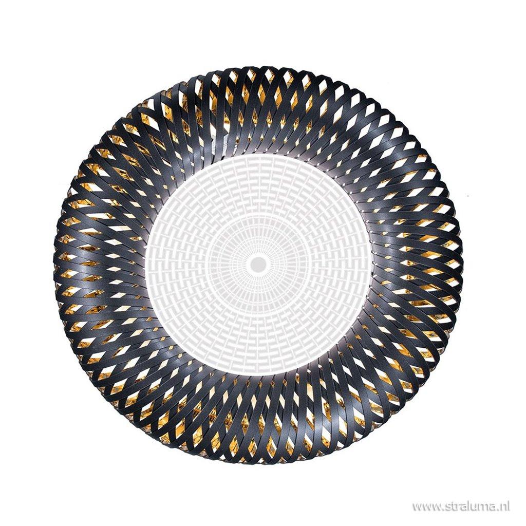 Luxe design plafondlamp Kalatos zwart met goud