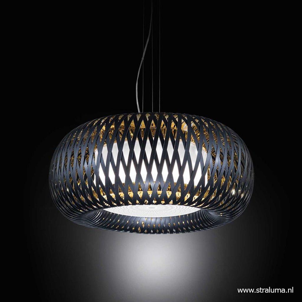 Hanglamp zwart goud Ø63