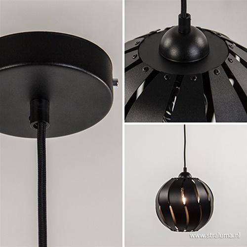 Kleine zwarte hanglamp bol metaal