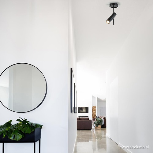 Moderne plafondspot zwart metaal verstelbaar