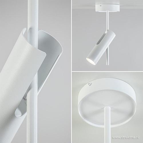 Witte plafondspot verstelbaar 2-lichts