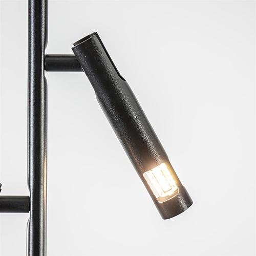 Moderne 2-lichts opbouwspot zwart G9
