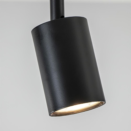 Verstelbare GU10 spot mat zwart metaal