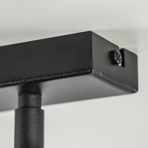 Moderne plafondspot mat zwart 3-lichts verstelbaar