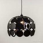 *Zwarte ronde hanglamp van stippen