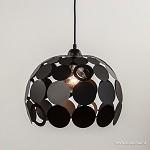 *Kleine ronde hanglamp zwart metaal