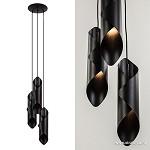 *Speelse 3-lichts hanglamp zwart metaal