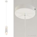 *Witte hanglamp gevouwen metaal