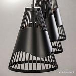*3-lichts eettafelhanglamp draad metaal