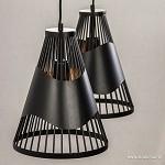 *Kleine eettafelhanglamp zwart 2-lichts