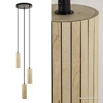 *Moderne houten hanglamp 3-lichts