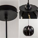 *Grote zwarte hanglamp bol metaal