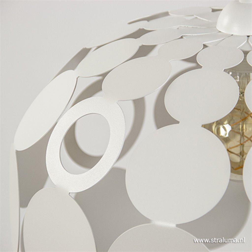 *Ronde stippen hanglamp wit