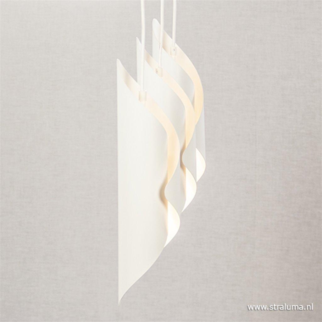 *Wit moderne hanglamp 3-lichts metaal