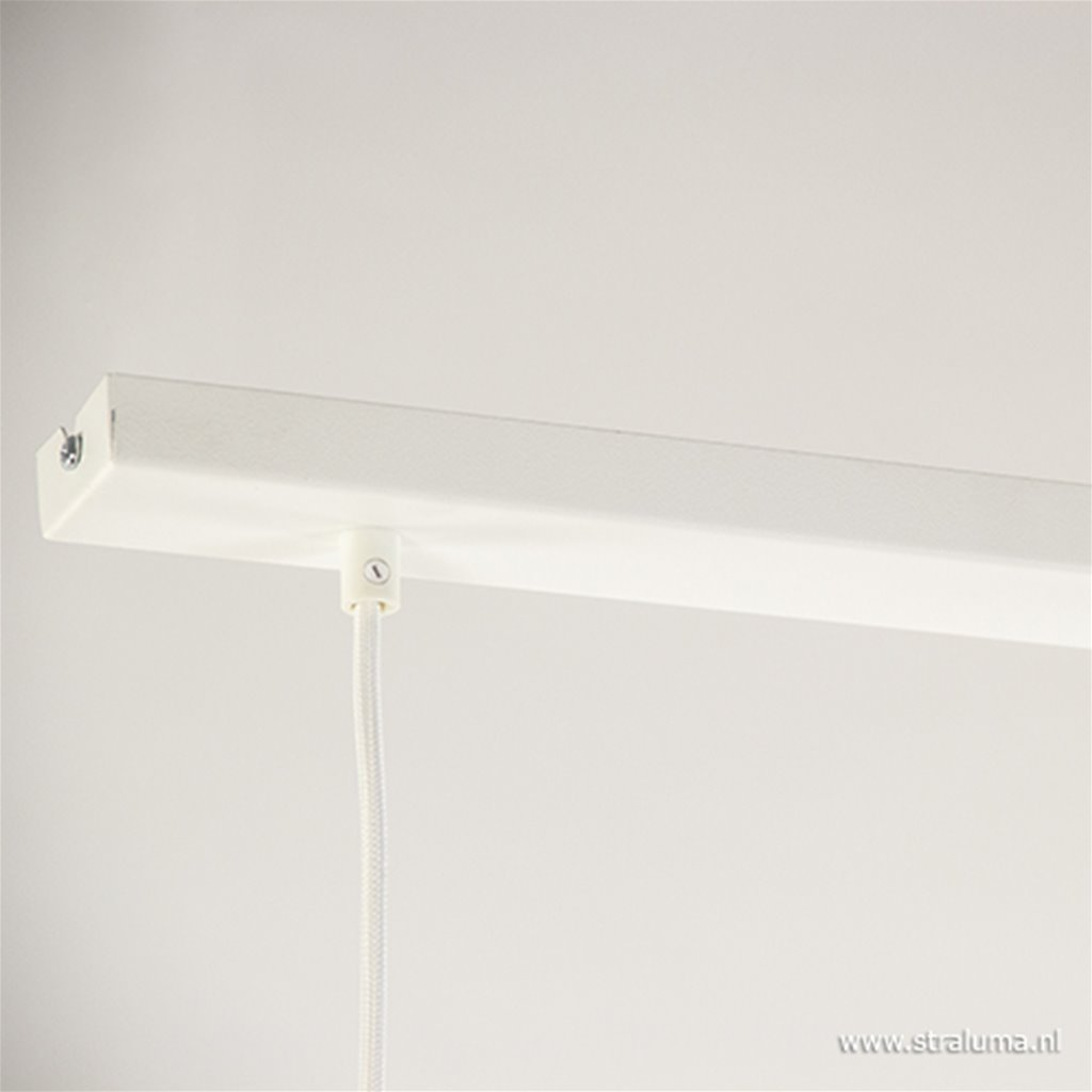 Wit moderne hanglamp 3-lichts metaal