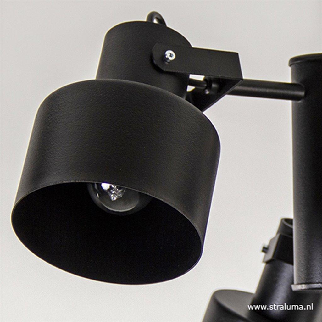 Moderne 3-lichts plafondlamp mat zwart