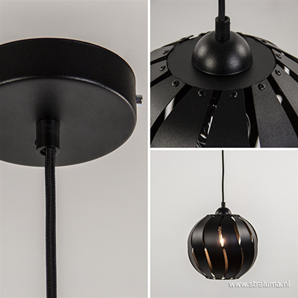 *Kleine zwarte hanglamp bol metaal