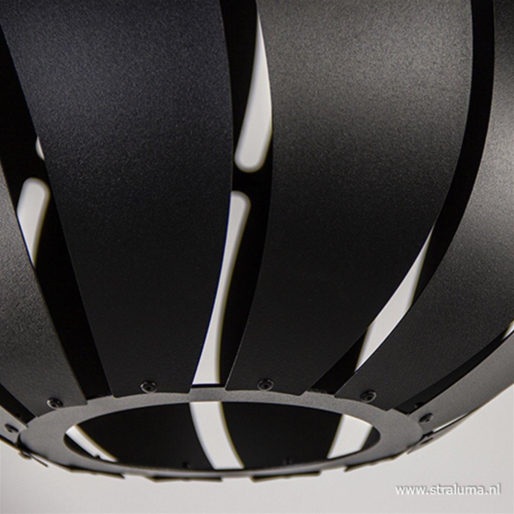 Grote plafondlamp bol zwart