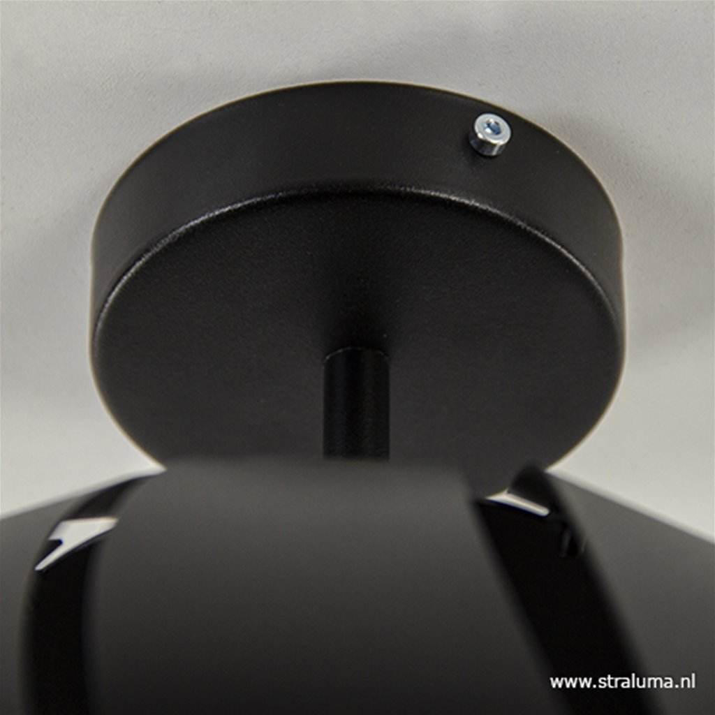 Metalen plafondlamp zwart Scandinavisch