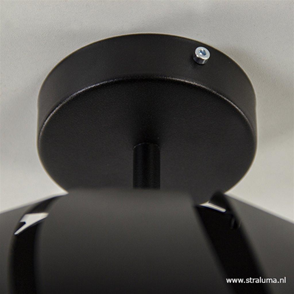 Kleine metalen plafondlamp bol zwart