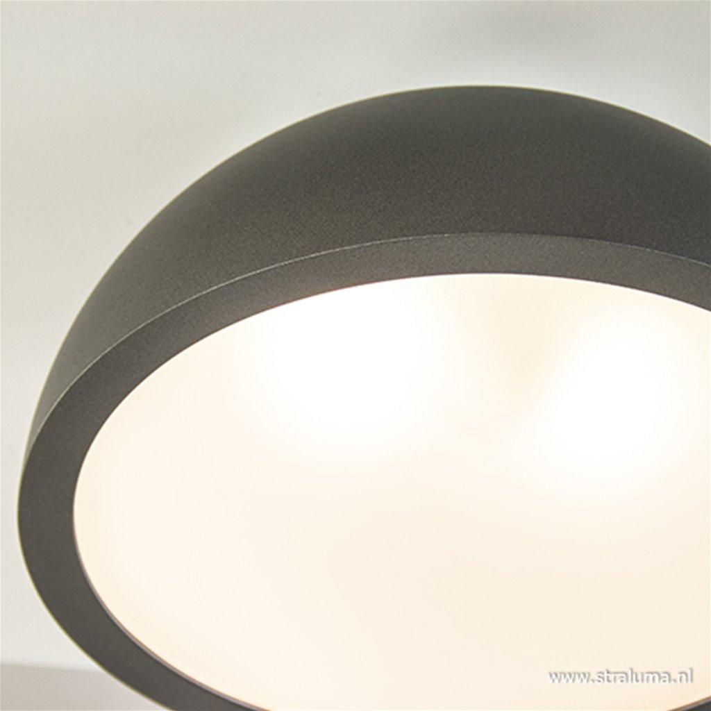 Grijze ronde plafonnière 34 cm