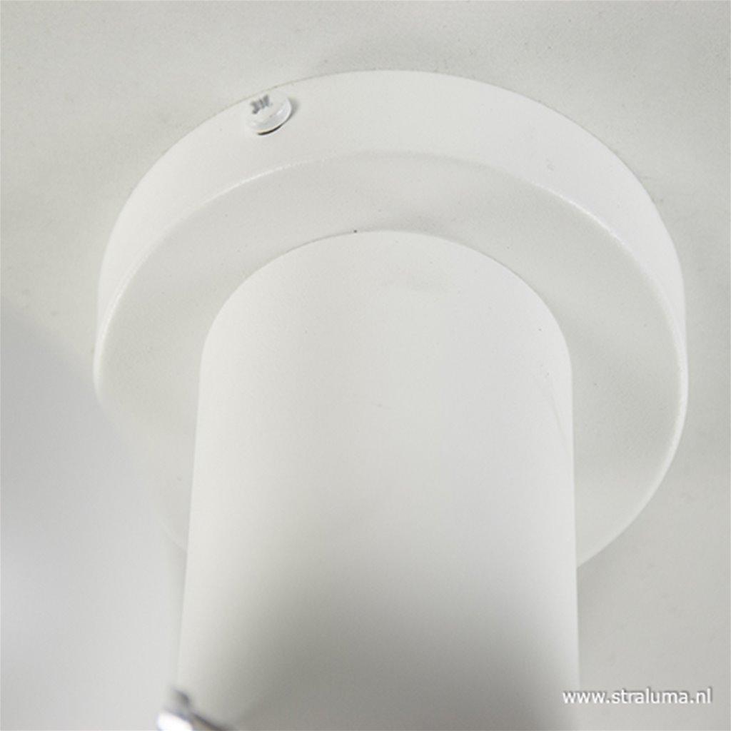 Moderne 3-lichts plafondlamp wit