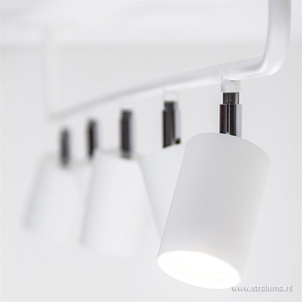 Lange opbouwspot wit 5-lichts