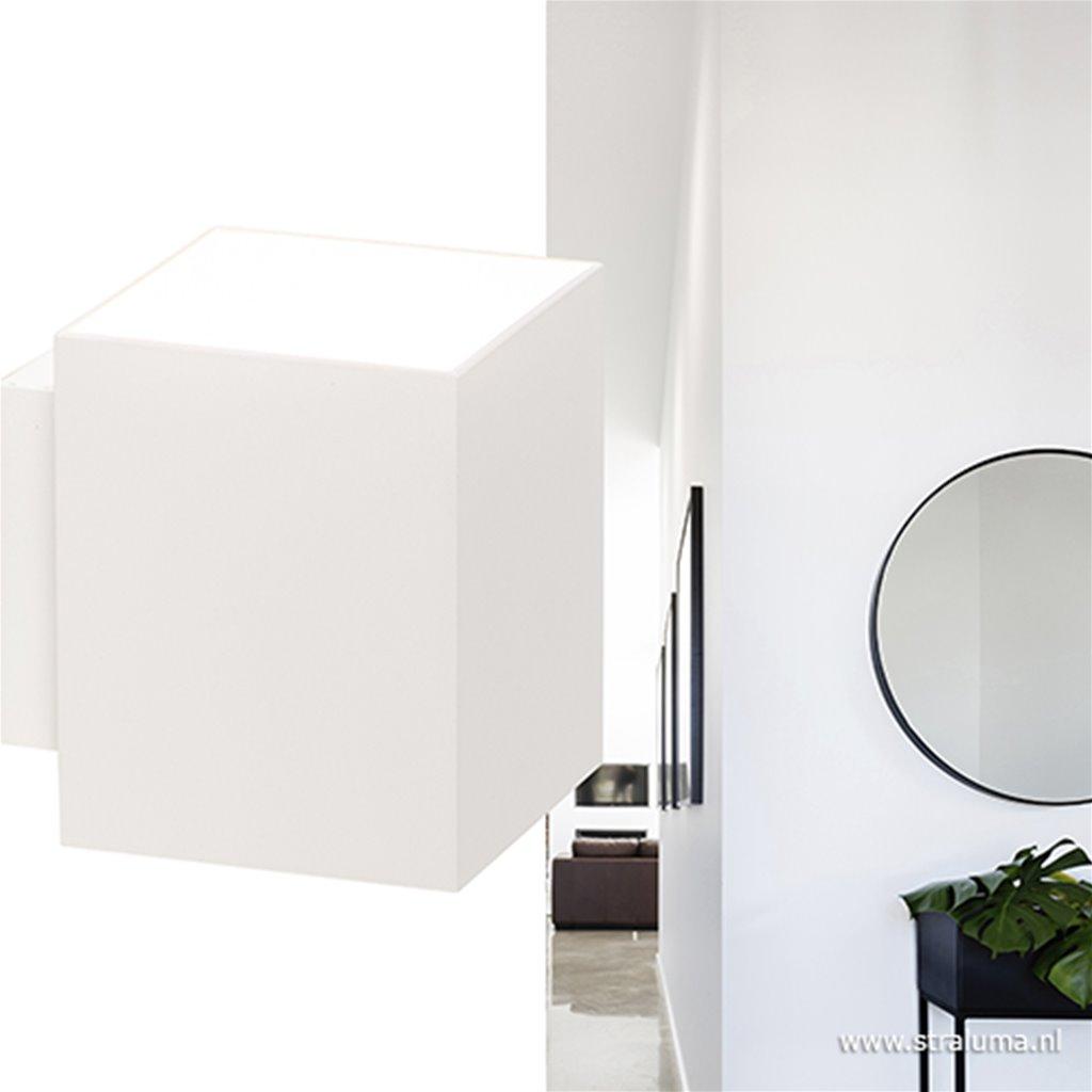 Wandlamp rechthoek wit excl.g9