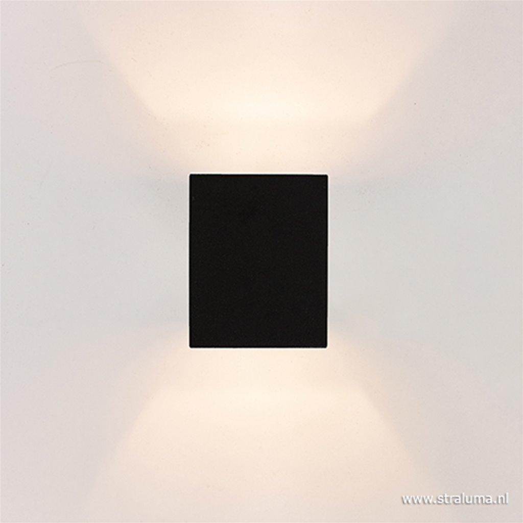 Wandlamp kubus zwart up+down g9