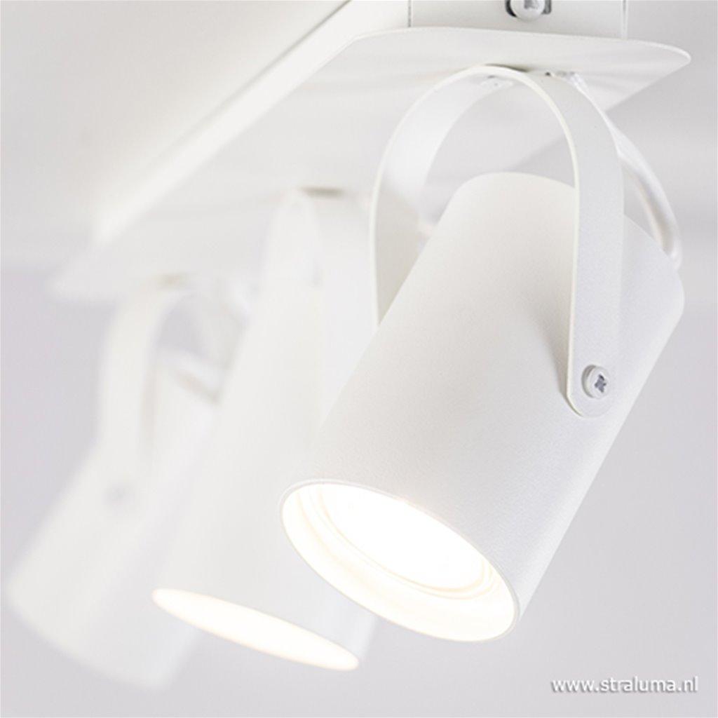 Moderne 3-lichts plafondspot wit