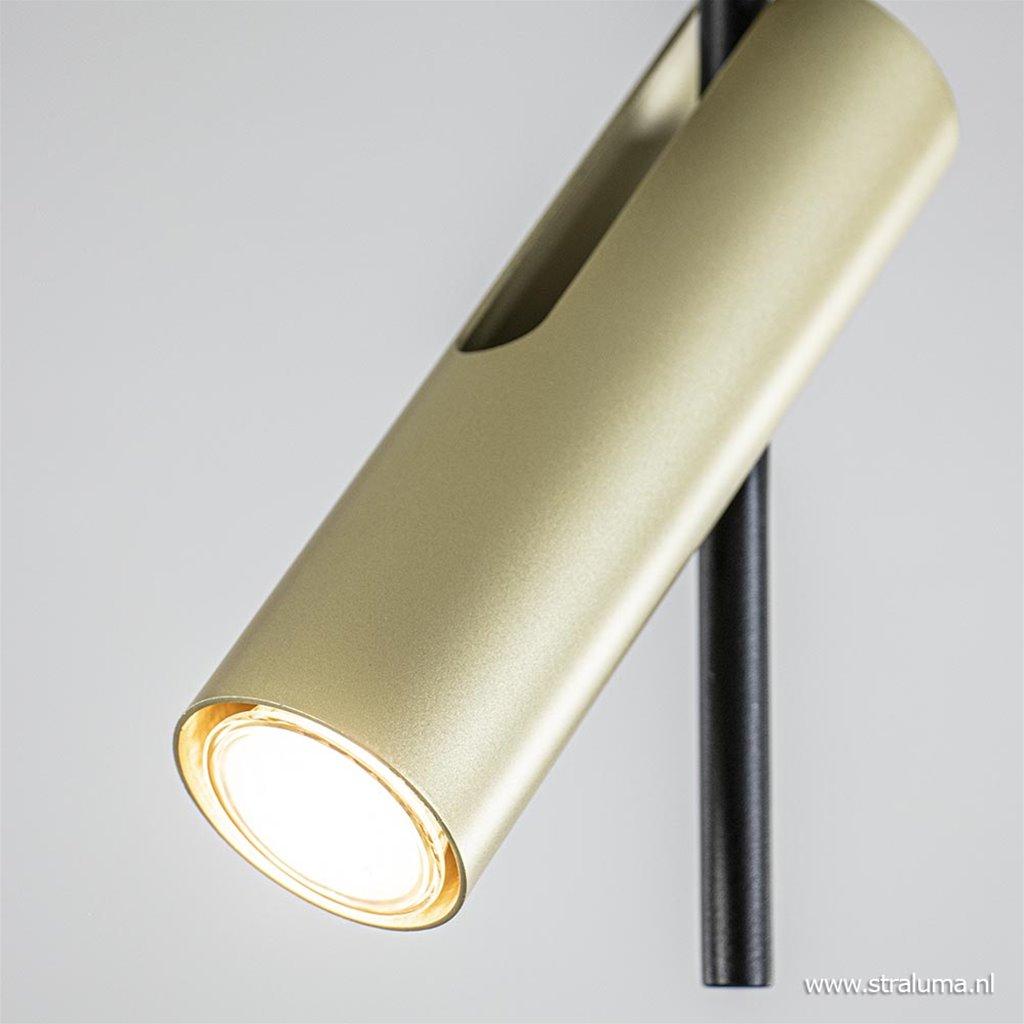 Verstelbare plafondspot zwart met goud