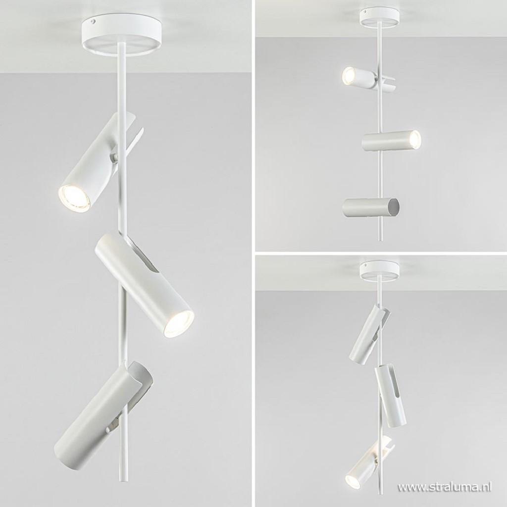 Moderne 3-lichts opbouwspot wit verstelbaar