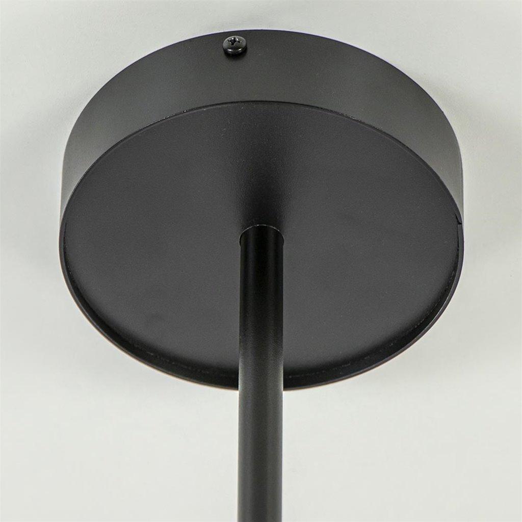Grote 6-lichts opbouwspot verstelbaar zwart/goud