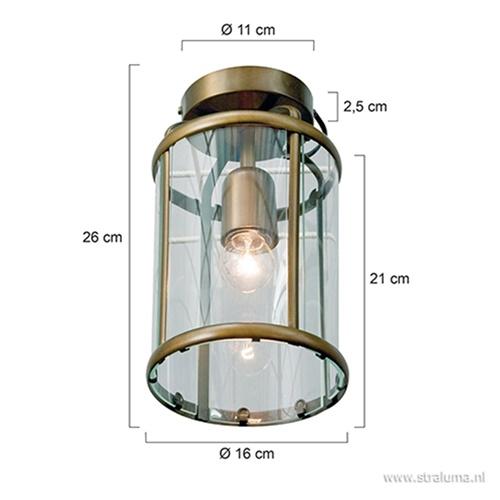 Plafondlamp Pimpernel brons/Glas