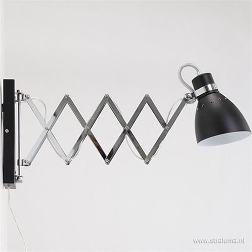 Trek wandlamp Spring zwart