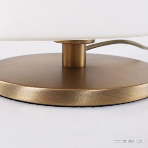 Tafellamp Ancilla brons met glas