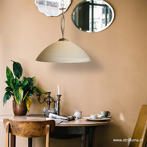 Hanglamp Capri brons/Glas