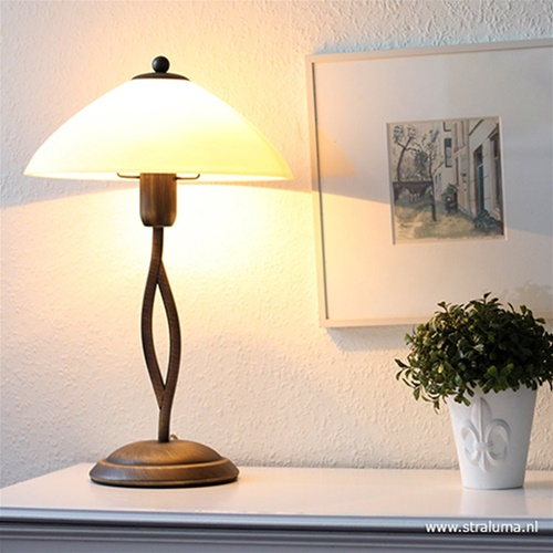 Tafellamp Capri brons/Glas