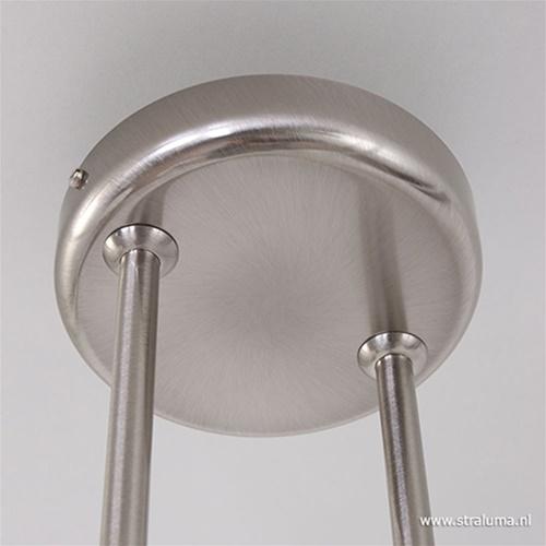 Hanglamp Capri staal/glas eettafel