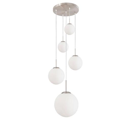 Hanglamp bol Bollique 5xglas  wit