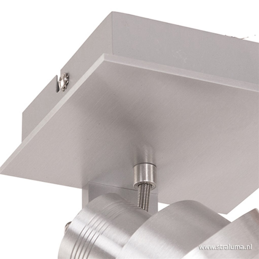 Plafond-/wandspot 1L alu incl. gu10