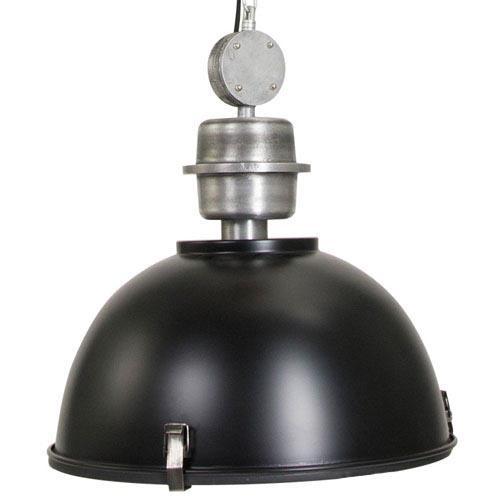 Industriele hanglamp zwart voor eettafel