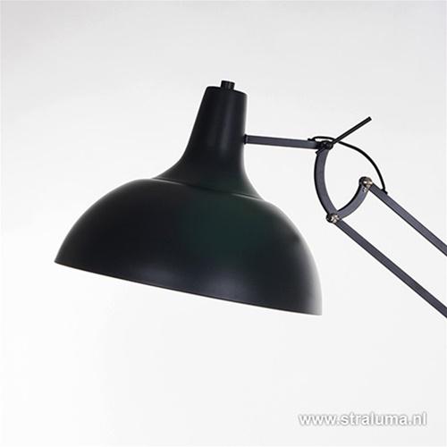 Verstelbare grote vloerlamp zwart