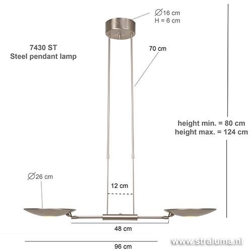 Moderne hanglamp LED eetkamertafel