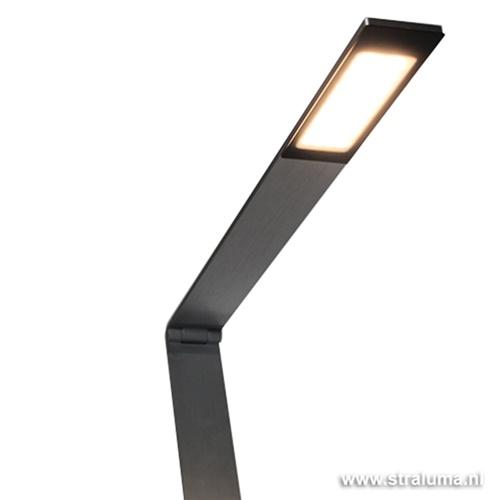Bureaulamp alu modern dimbaar