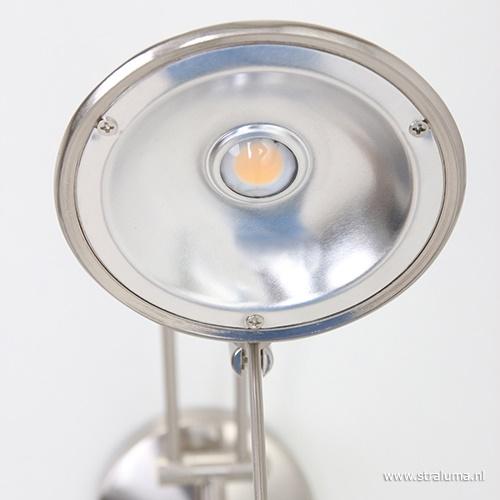 Wandlamp Tamara staal dimb. slaapkamer