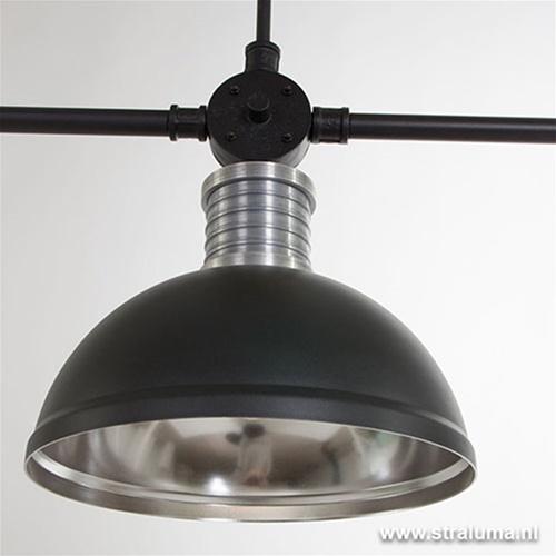 Industriële hanglamp eettafel 3-lichts