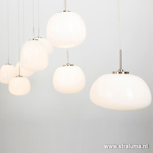 Glazen hanglamp 8-lichts bar-eettafel